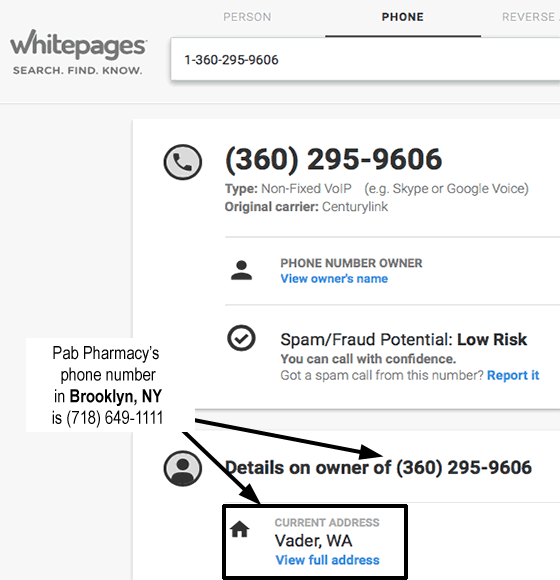 Search for 360-295-9606 on WhitePages.com