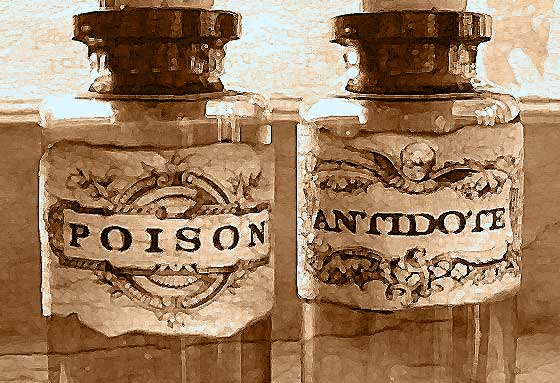 Poison and Antidote bottles